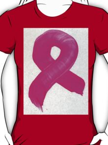 Pink Painted Ribbon 2 T-Shirt