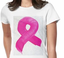 Pink Painted Ribbon 2 Womens Fitted T-Shirt
