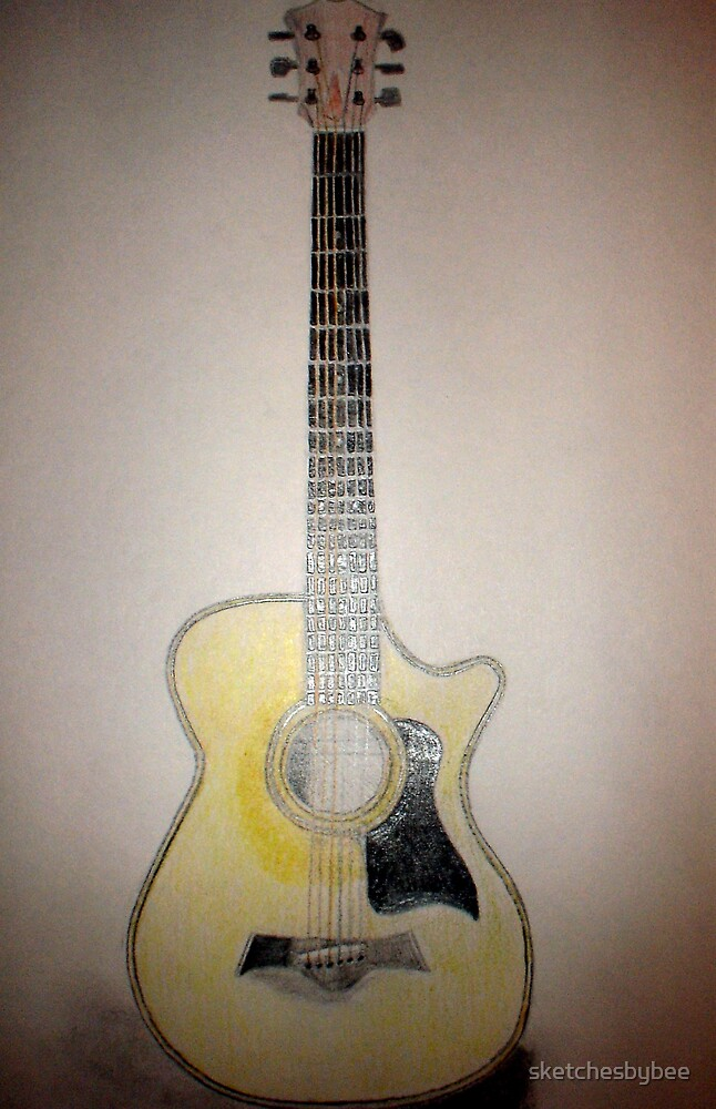 Taylor guitar by sketchesbybee