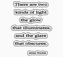 Two kinds of light, James Thurber by Tammy Soulliere