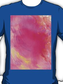 Pink Painted Background T-Shirt