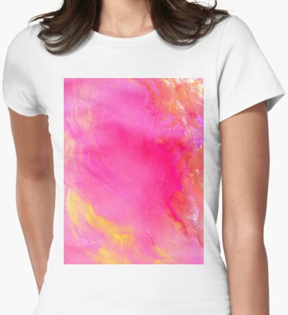 Pink Painted Background Womens Fitted T-Shirt
