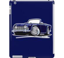 Triumph TR4 Dark Blue iPad Case/Skin