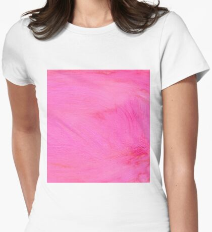 Pink Painted Background 2 Womens Fitted T-Shirt