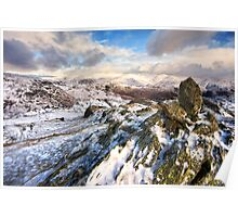 Winters Day In The Easdale Valley Poster