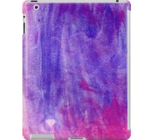 Pink and Violet Painted Texture iPad Case/Skin