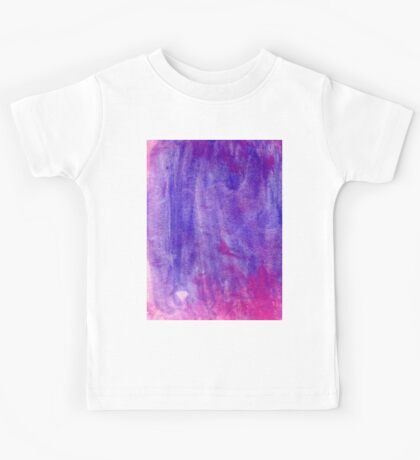 Pink and Violet Painted Texture Kids Tee