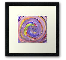 Pink and Violet Painted Texture 2 Framed Print