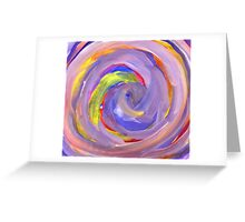 Pink and Violet Painted Texture 2 Greeting Card