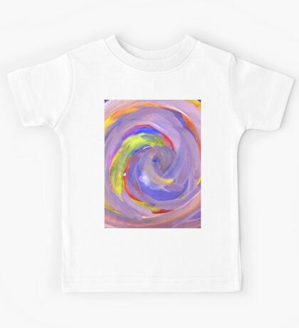 Pink and Violet Painted Texture 2 Kids Tee