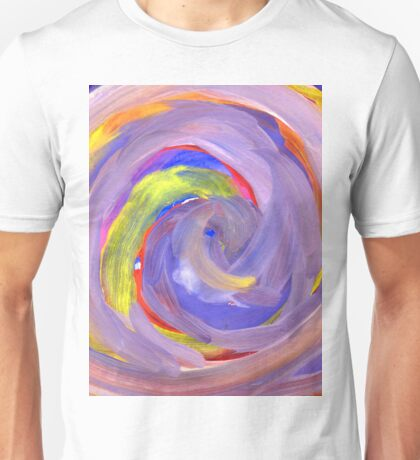 Pink and Violet Painted Texture 2 Unisex T-Shirt