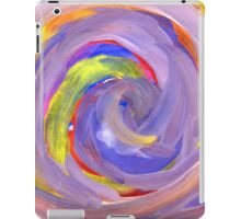 Pink and Violet Painted Texture 2 iPad Case/Skin