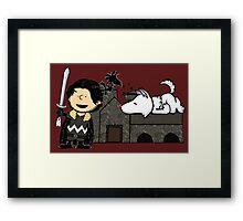 Jon Snow Peanuts Framed Print