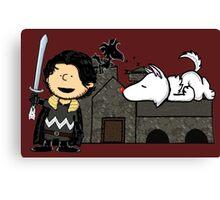 Jon Snow Peanuts Canvas Print