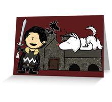 Jon Snow Peanuts Greeting Card