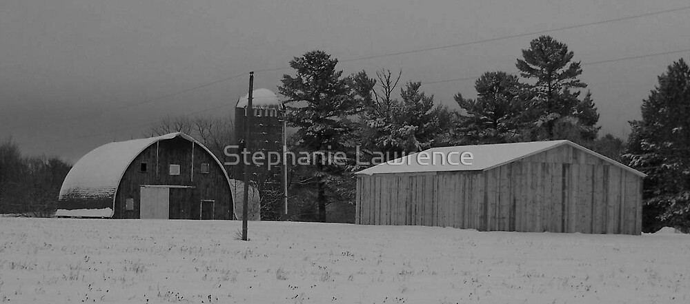 Winter Barns by Stephanie Lawrence