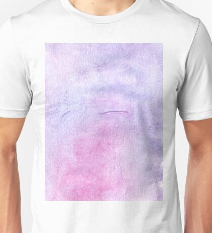 Pink and Violet Painted Texture 3 Unisex T-Shirt