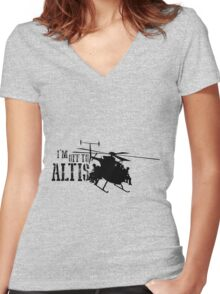 Arma 3 - I'm off to Altis Women's Fitted V-Neck T-Shirt