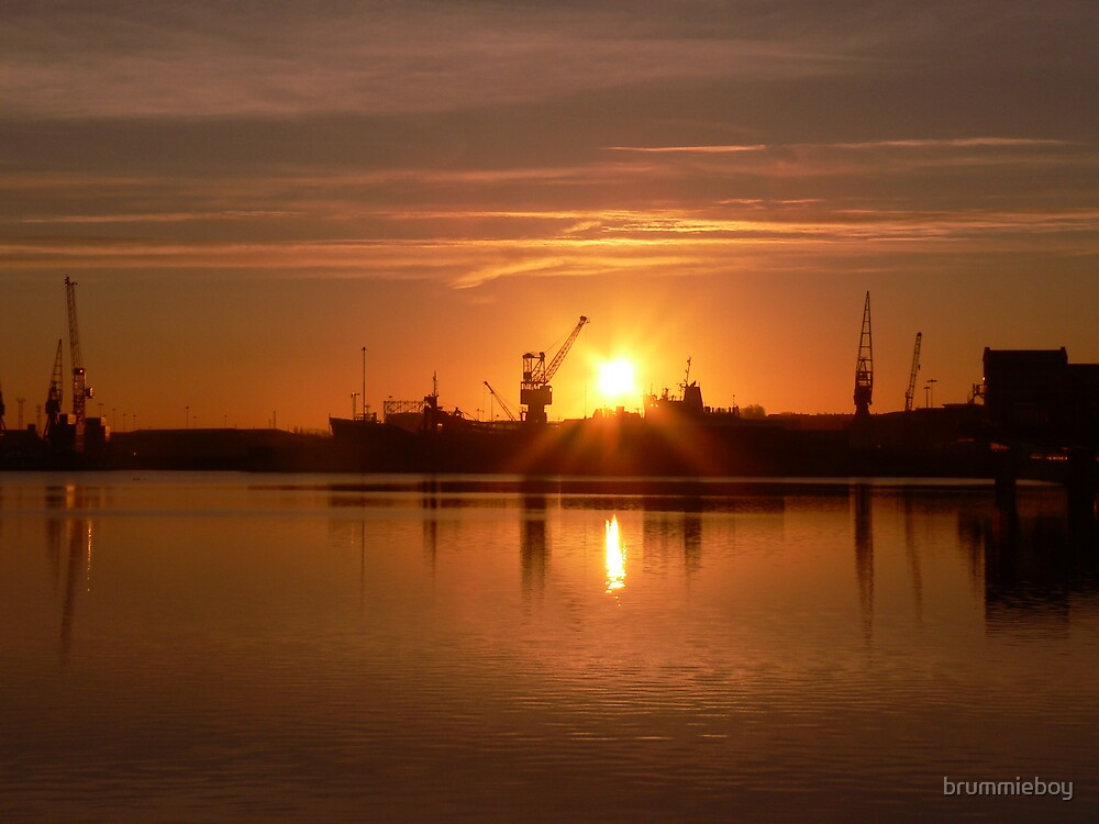 Sunrise over the Docks by brummieboy