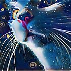 Night Prowler, Abstract cat after dark. by Shellibean1162