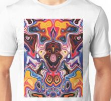 Faces In Abstract Shapes 1 Unisex T-Shirt