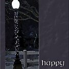 lamp post happy holidays card by Christine McDonough