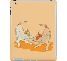 Two heeler pups playing tag iPad Case/Skin