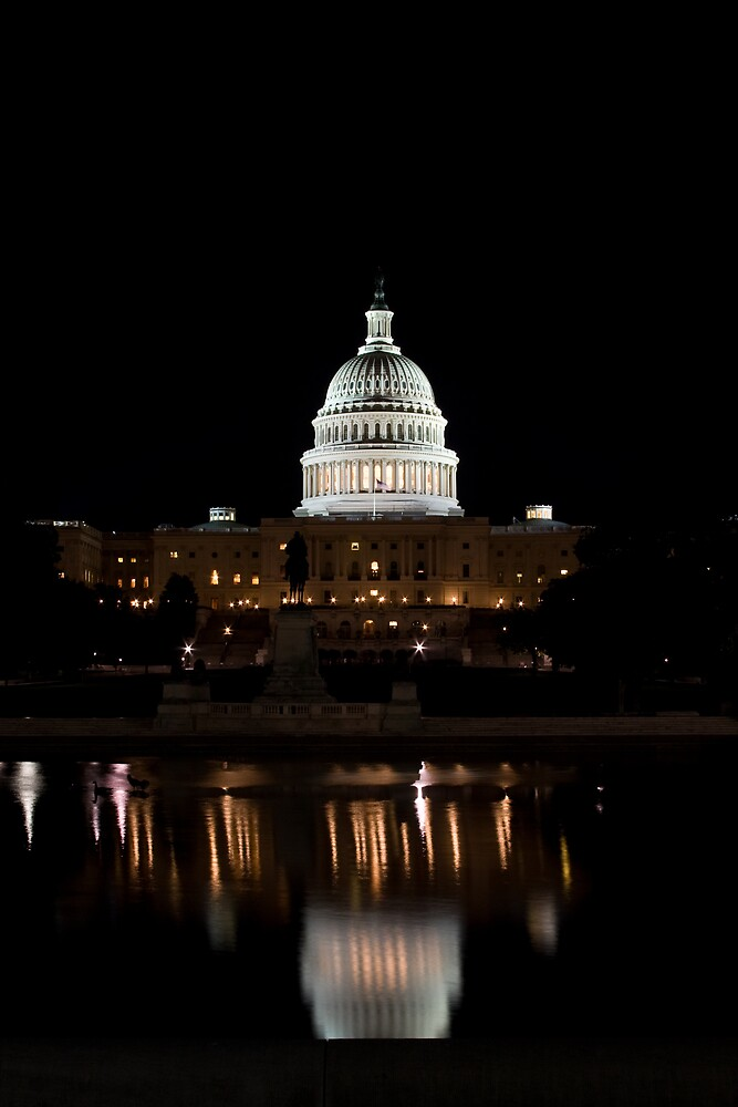 Capital Building at Night II by shadow2