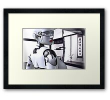 Android Tea House Framed Print