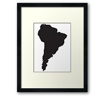 South America simple shape map Framed Print