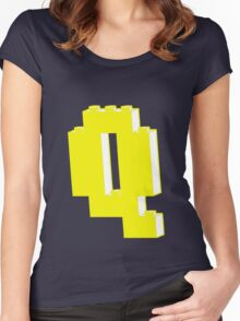 THE LETTER Q Women's Fitted Scoop T-Shirt