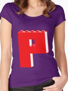 THE LETTER P  Women's Fitted Scoop T-Shirt