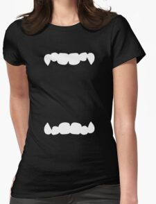 HALLOWEEN costume wide open mouth with teeth scary! Womens Fitted T-Shirt