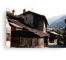 Ancient cottages Canvas Print