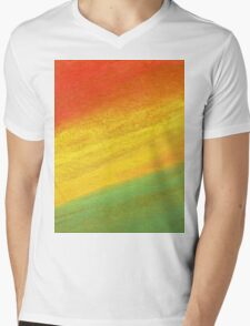 Red Yellow Green Gouache Mens V-Neck T-Shirt