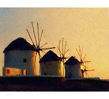 Mykonos Sunset Photographic Print