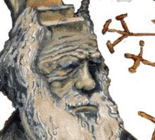Darwin Took Steps by Glendon Mellow Sticker