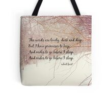 Miles to Go Robert Frost Tote Bag