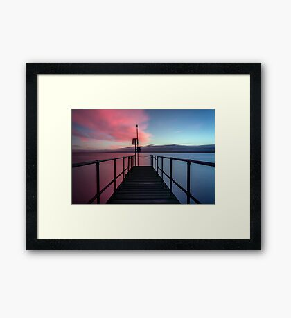 Pink or blue? Framed Print