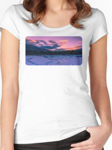 Illecillewaet sunrise  Women's Fitted Scoop T-Shirt
