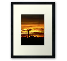 Softened Suburbia Framed Print