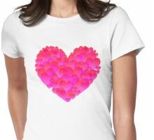 Abstract heart 2 Womens Fitted T-Shirt