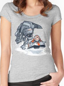 Jurassic Hoth Women's Fitted Scoop T-Shirt