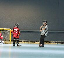 Matt Celebrates by Lilydale Rats Inline Hockey Club