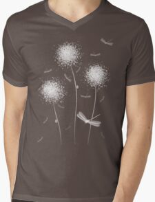 Dandilions Mens V-Neck T-Shirt