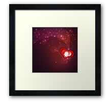 Background with red heart Framed Print