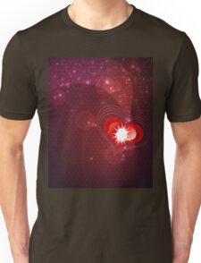 Background with red heart Unisex T-Shirt