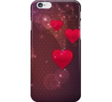 Background with red heart 2 iPhone Case/Skin
