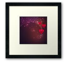 Background with red heart 2 Framed Print