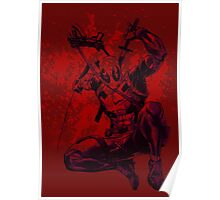 Deadpool drawing with Blood splatter 1 Poster